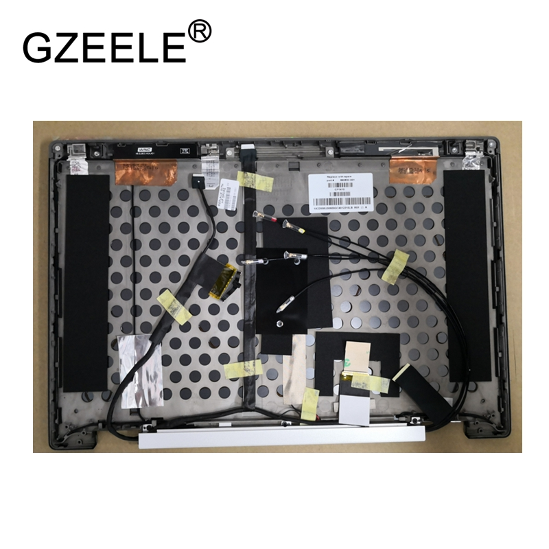 GZEELE used laptop case For HP For EliteBook 8560w Series Black Lcd Back Rear Lid top Cover for Non-touch version gzeele new top lcd cover for hp for elitebook 725 820 g1 top case laptop lcd back cover top case 730561 001 6070b06753 rear lid