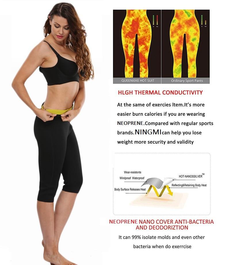 049a63b567 NINGMI Hot Pants Body Shapers Women Sweat Waist Trainer Fat Burner Fitness  Slimming Short Capris Neoprene Sauna Control Panties-in Control Panties  from ...