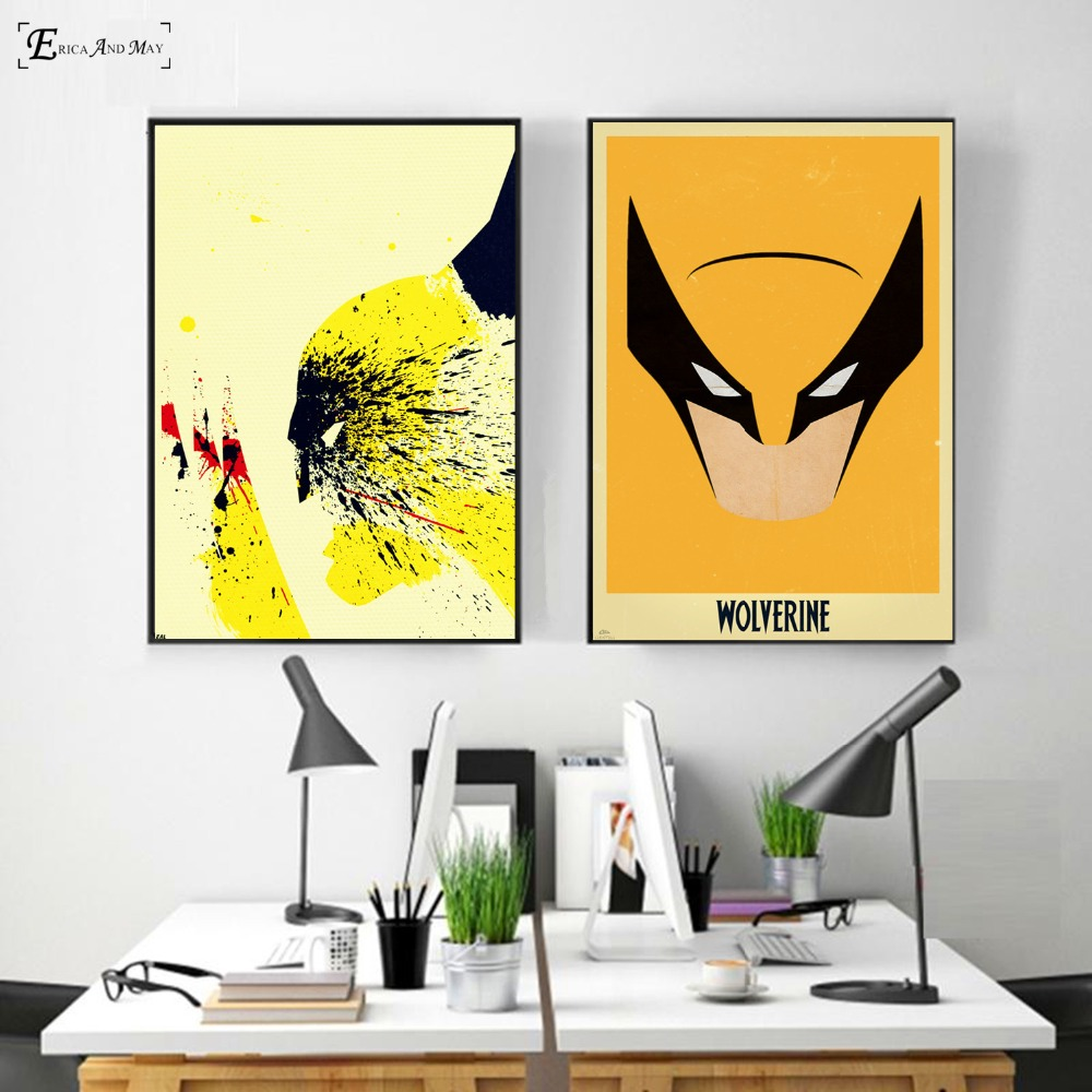 Vintage Wolverine Abstract Artwork On Sale Poster Wall Painting ...