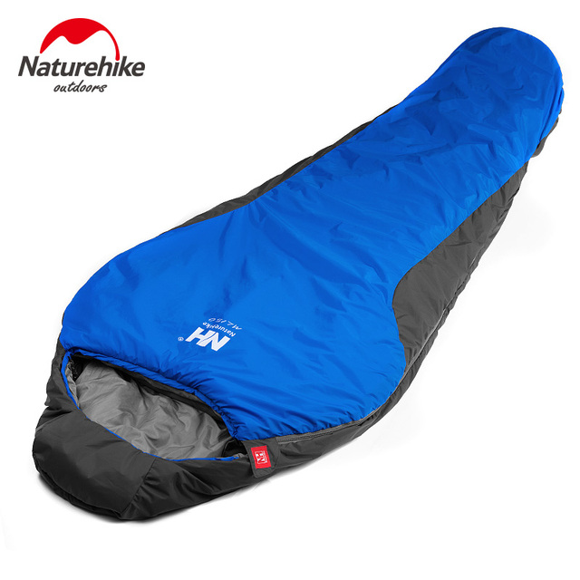 Naturehike Waterproof Mummy Camping Sleeping Bag Cotton Lining Winter Outdoor Ultralight Warmth