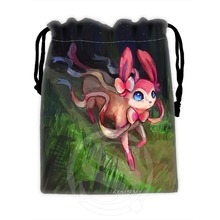 H-P595 Custom Eevee #33 drawstring bags for mobile phone tablet PC packaging Gift Bags18X22cm SQ00729-@H0595