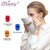 Channy LED Facial Mask Light Instrument Skin Care Multifunction Rejuvenation Wrinkle Acne Removal Face Beauty Spa Device