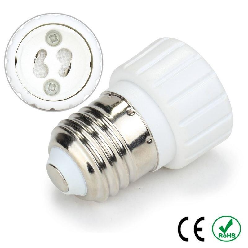 100pcs E27 to GU10 Adapter Lamp Holder Converter Lamp Base Socket Fireproof PBT Copper LED Light Bulb Holder Extender Plug