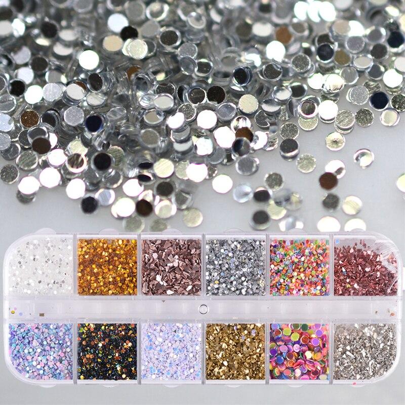 Schönheit & Gesundheit 1 Fall Holographische Pigment Pailletten Nagel Glitter Pulver Solide Runde Unregelmäßige Flakes Staub Paillette Werkzeuge Dekoration Maniküre Jiy 100% Garantie