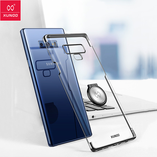 new arrival 04bac f8793 US $11.99 30% OFF|XUNDD For Samsung Galaxy Note 9 S9 S8 Plus Case Magnetic  Car Holder Stand Clear PC Back Cover For Samsung S8 S9 Plus Note 9 Case-in  ...