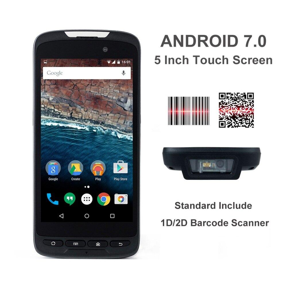 5 Inch Rugged PDA Android 7.0 Honeywell /Zebra 1D 2D Barcode Scanner NXP NFC 13.56M Free SDK Handheld Data Collector Terminal honeywell metrologic ms7580 genesis 1d pdf 2d ocr usb