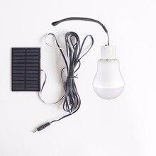 Portable Solar Power LED Bulb Lamp 3W Outdoor Camping Tent Fishing Lamp Lighting Garden Light Solar Panel Camp Travel Night