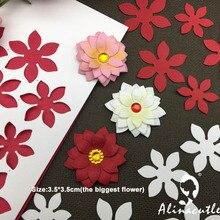Металлические Вырубные штампы, вырубные штампы alinacraft, 5 шт., цветы, скрапбук, бумага для рукоделия, альбом, карточный нож-пуансон, художественный резак
