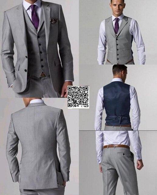 ce5ea61f77d4f Włoskie męskie szary garnitury formalne sukienka mężczyzn zestaw garnitury  ślubne groom smokingi/biznes/męski