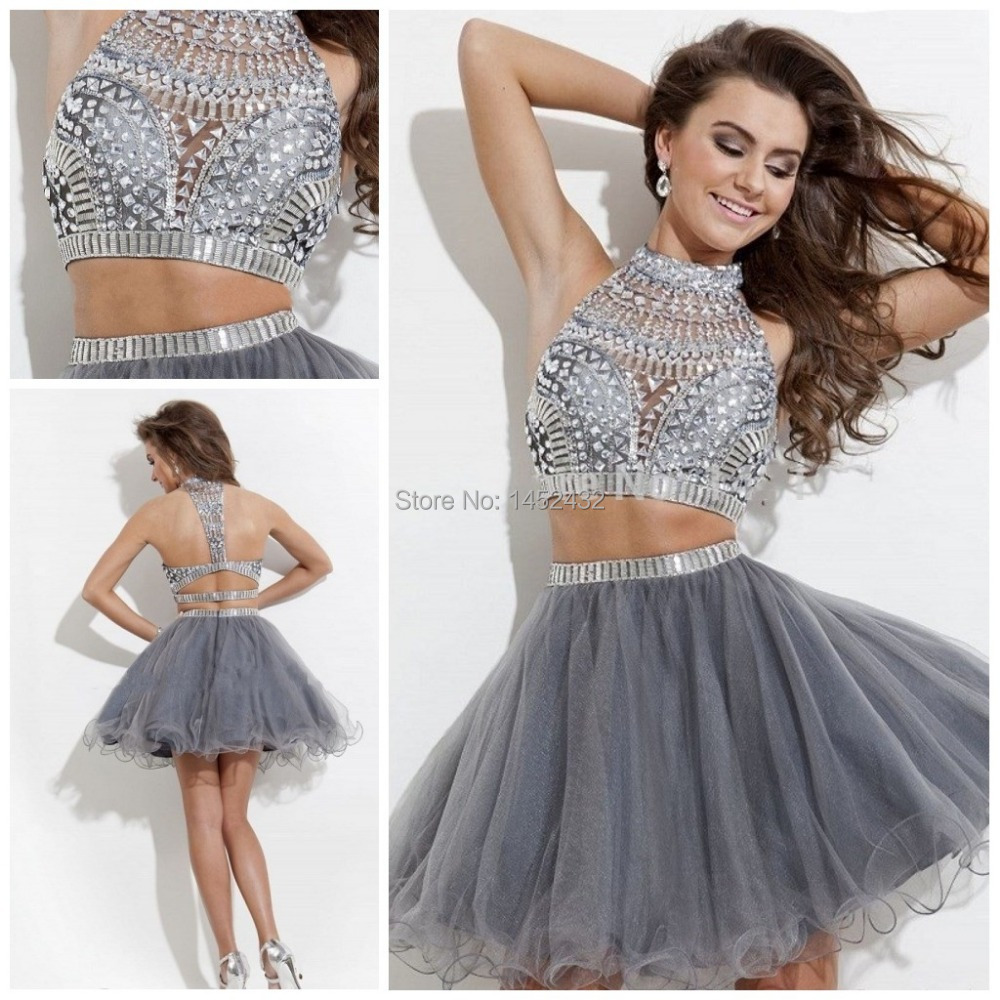 Short Silver Homecoming Dresses 2015