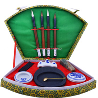 Chinese Calligraphy Brush Pen Seal Ink Set Four Treasures Of The Study Boxset