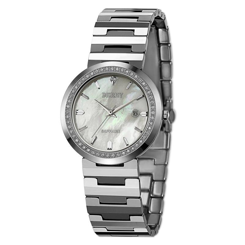 Часы для пар Wemen, Роскошные мужские часы из вольфрамовой стали с календарем, 2301
