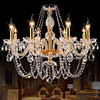 Modern Crystal Chandelier LED Hanging Lighting European Style Glass Chandeliers Light For Living Dining Room Restaurant