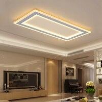 Поверхностного монтажа прямоугольник современный светодиодный потолочный Люстра гостиная столовая спальня ультра тонкий потолочный Люст