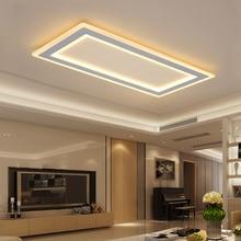 Поверхностный монтаж прямоугольная современная светодиодная потолочная люстра гостиная столовая спальня ультра-тонкий потолок люстры-украшения