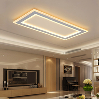 Surface mounted Rectangle Modern led ceiling chandelier living room dining room bedroom Ultra thin ceiling chandelier fixtures