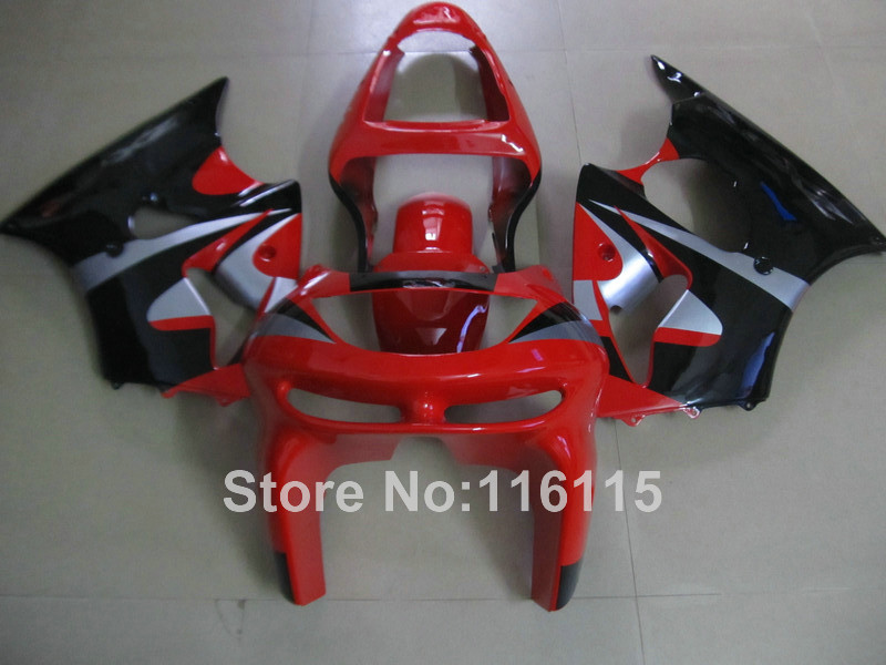 ABS full fairing kit for Kawasaki ZX6R 1998 1999 Ninja 636 ZX 6R 98 99 red black bodywork fairings set PP17