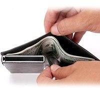 BISI GORO новый пакет визитных карточек протектор Rfid Тонкий держатель кредитной карты Бумажник Алюминиевый мужской женский металлический коше...