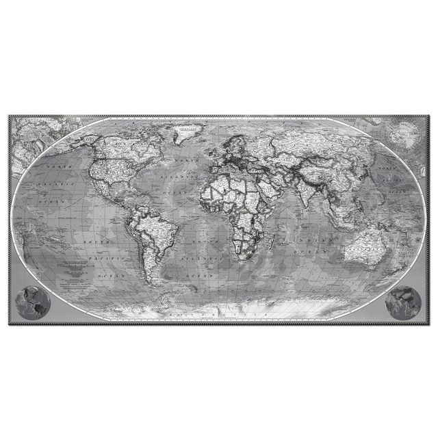 Large size vintage world map painting canvas retro antiquated map of large size vintage world map painting canvas retro antiquated map of the world picture abstract seascape gumiabroncs Choice Image