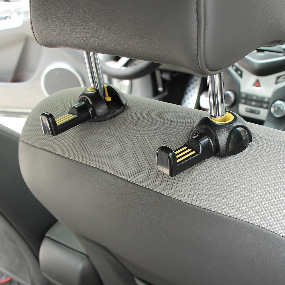 new hot 2pcs car interior accessories portable auto seat hanger purse bag organizer holder hook. Black Bedroom Furniture Sets. Home Design Ideas