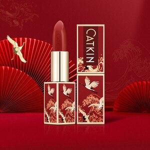 Image 2 - CATKINลิปสติก 6 สีสวยSilky Nourish Lip Stick Triple Plant Essenceติดทนนานกันน้ำ