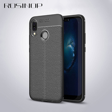 ROSINOP Anti-knock Lowkey Luxury Leather Case For huawei p20 lite Original Full Coverage Soft TPU Covers nova 3