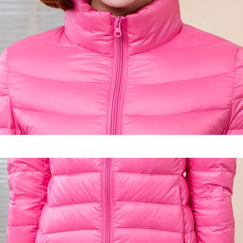 Casual 90 White Duck Down Jacket Women Stand Collar Ultra Light Female Winter Warm Casual Short Parkas Coat in Parkas from Women 39 s Clothing