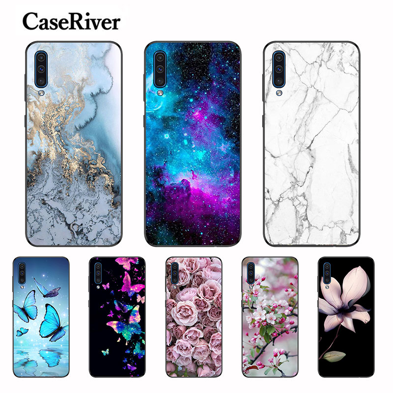 Floral Patterned Case For <font><b>Samsung</b></font> <font><b>Galaxy</b></font> <font><b>A50</b></font> Back Cover <font><b>A505</b></font> A505F Soft TPU Case For <font><b>Samsung</b></font> <font><b>Galaxy</b></font> <font><b>A50</b></font> Cellphone Case Silicone image