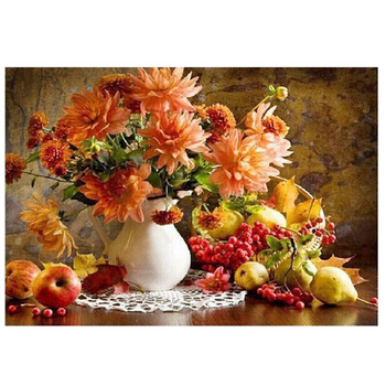 Fiori e frutta pittura by numbers su tela della parete fai da te immagini da colorare by numbers pittura a olio digitale per la decorazione domestica opere d'arte