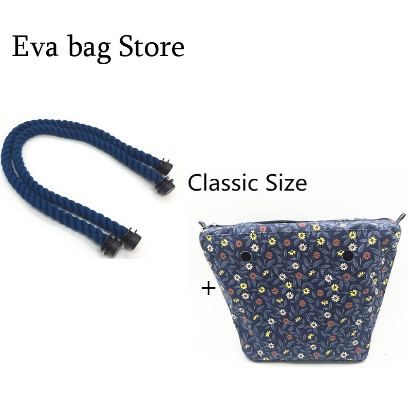 1 pcs inner standard classic size canvas bag and one handle for obag цена
