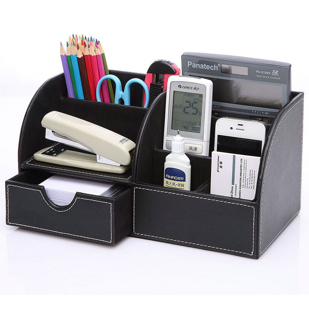 Ever Perfect Desktop Organizer Stationery Storage Box Pencil Holder For Office Desktop Home Decoration Free Shipping sosw 3 in 1 card office pencil pen pot stationery storage box organizer storage organizer rose red