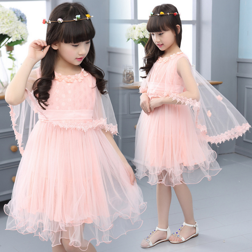 flower girls dresses party wedding girl dress summer princess fashion toddler kids clothes clothing birthday for 3~14 year MC066 girls dress summer 2017 ball gwon girl children clothing brand clothes solid kids for princess party wedding toddler dresses