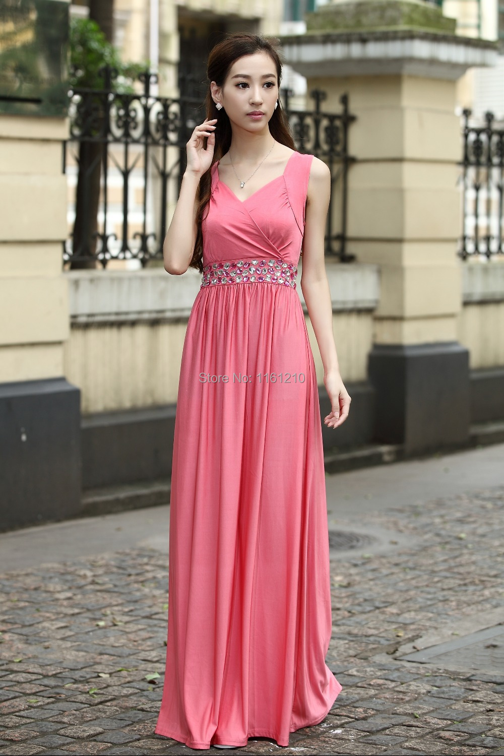 Coral Pink Formal Party Ball Gowns Holiday Dresses Large size dress ...