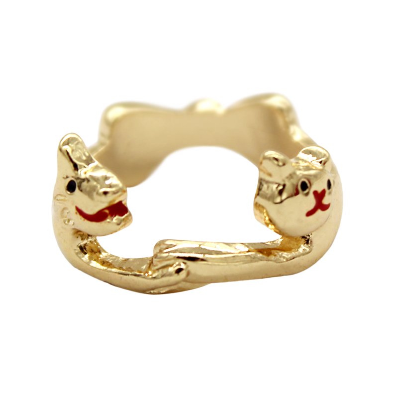 Newest Cat Dogs Bow Personality Cute Hot Ring Rings For Women Adjustable Bague Femme Anillos Jewelry Anillo de mujer