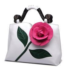 ผู้หญิงกระเป๋าขนาดใหญ่ดอกไม้ยี่ห้อกระเป๋าคลาสสิกสไตล์ลำลองผู้หญิงของMessengerกระเป๋า