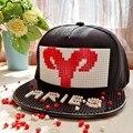 12 signos do zodíaco Blocos chapéu de beisebol Destacável DIY Tijolo padrão constelação cap hip-hop Snapback Chapéus para mulheres dos homens