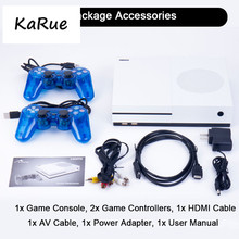 KaRue HD TV Video Game Console Built-in sd card 4GB 600 classic game For SNES/SMD/NES Format HDMI out W dual gamepad