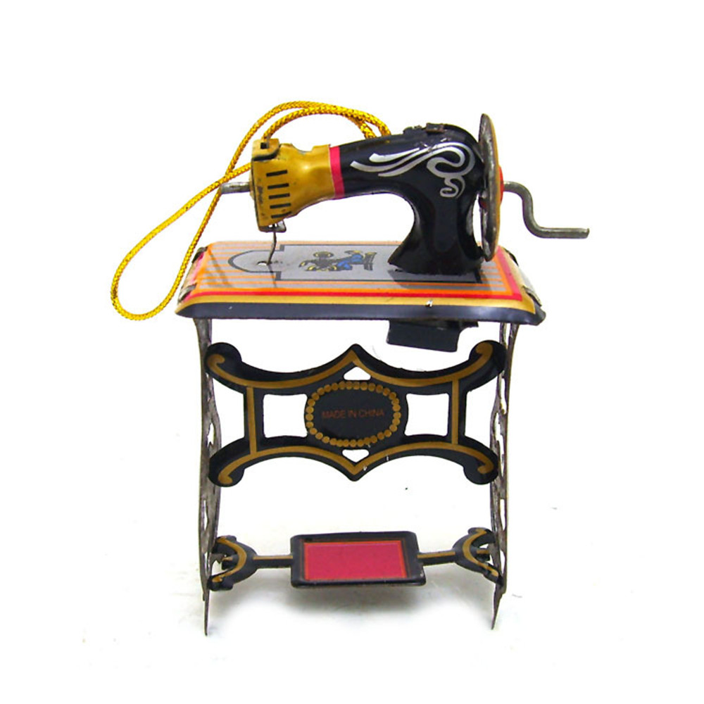 Classic Vintage Clockwork Sewing Machine Photography Children Kids Adult Collectible Tin Toys