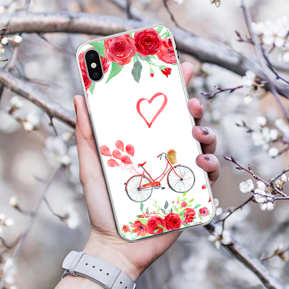 Eleteil English Love Printed Case For Iphone X Xr Xs Max Love Wreath For Iphone 6 6s 7 8 Plus Protective Phone Back Cover E40 Phone Bags & Cases Fitted Cases