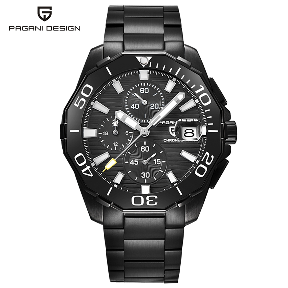 PAGANI DESIGN High Quality Military Watch Luxury Chronograph Quartz Waterproof Resistant Watches Relogio Masculino Gift for Men цена
