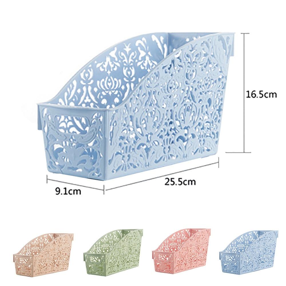 Hollow cut Plastic desk Basket case table bathroom storage box Pen Pencil/Sundries family accessory holder organizer boxes sale