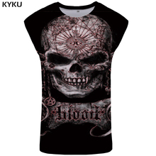 KYKU Skull Tank Top Women Rock Summer Punk Ladies Tops Hip Hop Singlet Gothic Plus Size Woman Clothes Womens Clothing Short
