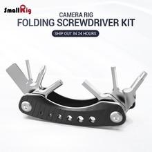 SmallRig Folding Screwdriver Kit Blade DSLR Camera Rig Tool Set Black Light Weight W/ pocket-sized multitool design 2363
