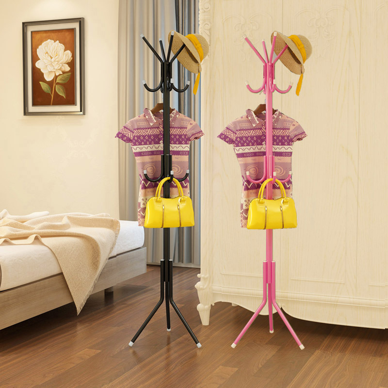 12 Hooks Iron Coat Rack Hanging Hanger Floor Interior Interior Hall Bedroom Fashion Iron Clothes Rack Hats Bags Clothes Shelf lanskaya 2018 perchero de ropa modern bamboo floor clothes tree bag hat rack coat hanger furniture bedroom hook hanging hooks