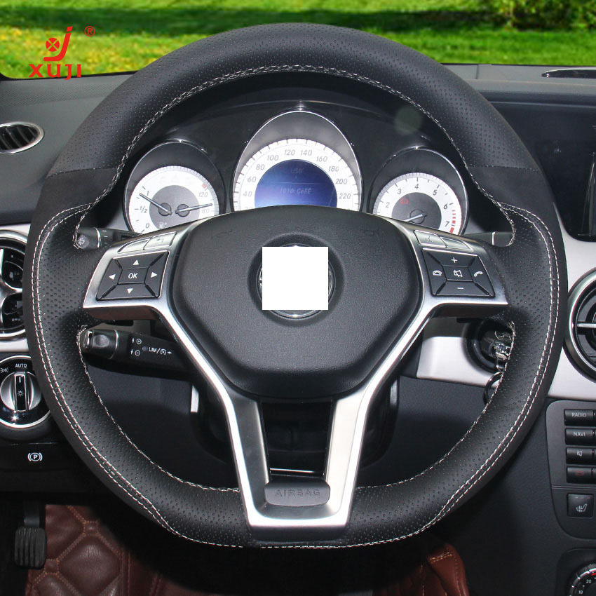Xuji steering wheel cover for mercedes benz glk 260 300 for Mercedes benz steering wheel cover