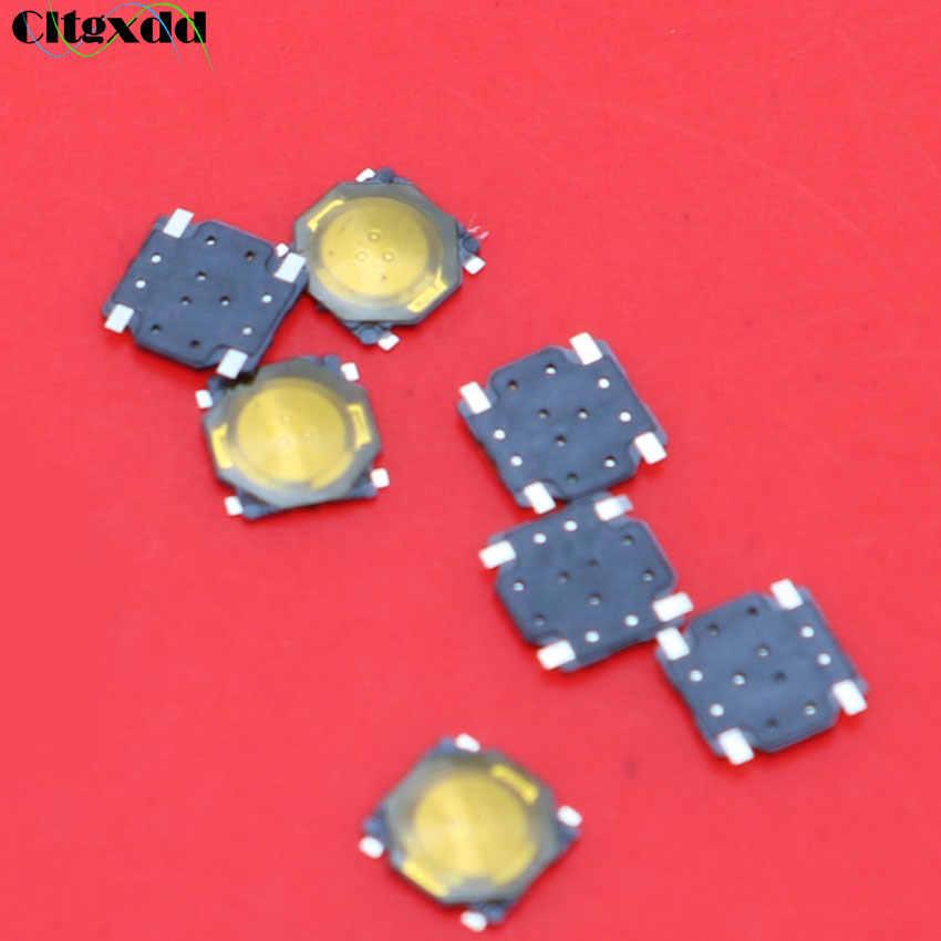 Cltgxdd 1 Pcs 3.7X3.7X0.35 Taktil Kebijaksanaan Mini Saklar Tombol Tekan Saklar Mikro Sesaat SMD-4 3.7*3.7*0.35 Film Tipis Touch Switch