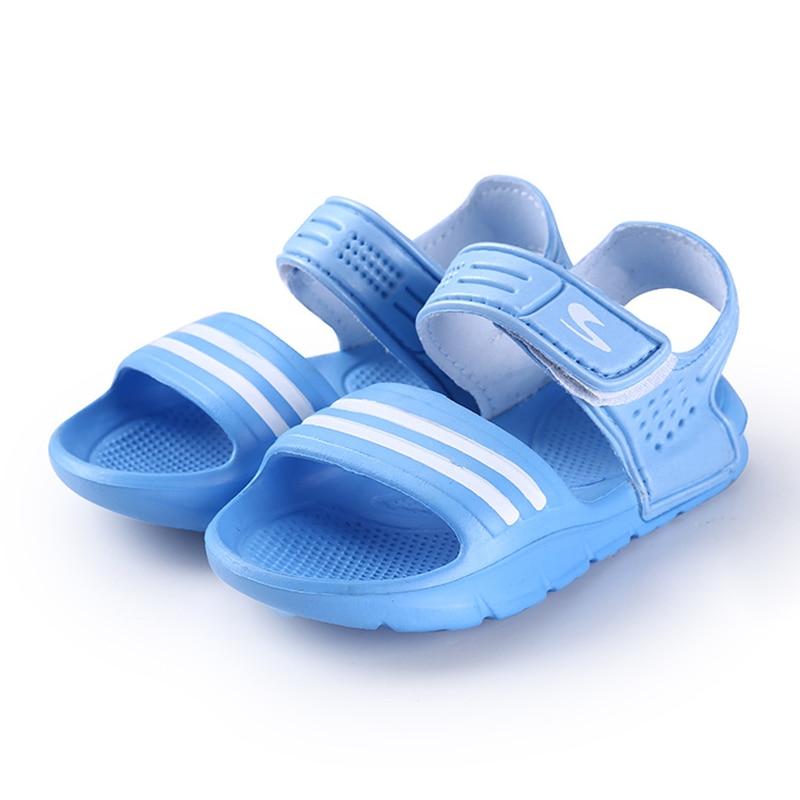 2017 Elsa Shoes Rubber Real New Plain Ankle Strap Unisex Sandalias - Zapatos de niños - foto 2