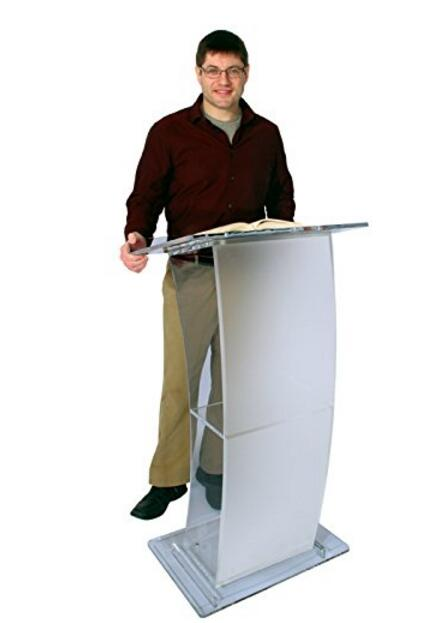 Фото free shiping Unique design hot sale and modern acrylic podium pulpit lectern