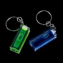 Inclinomètre de haute précision, Mini niveau à bulle, niveau à bulle, indicateur de niveau liquide avec porte-clés carpe de bricolage, 1 pièce