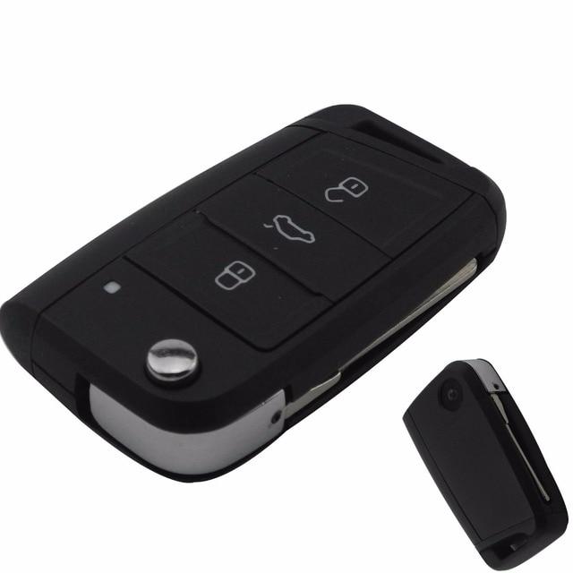 Jingyuqin 3 Buttons Modified Folding Flip Remote Car Key Cover Case